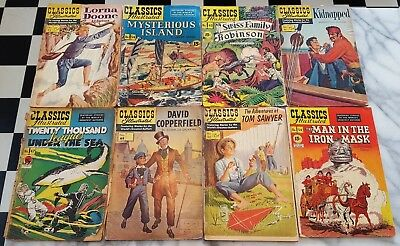 Vintage Comics Lot - Classics Illustrated Various Titles 1-54 20 COMICS TOTAL