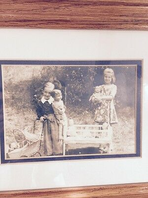Vintage Photo Of Two Young Girls With Dolls 101415