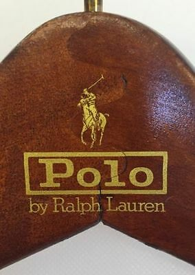 Lot of 41 Polo by Ralph Lauren Wood GOLD PONY LOGO hangers