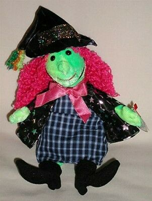 Ty Beanie Baby SCARY the Witch Plush 2001 PE Pellets NWT
