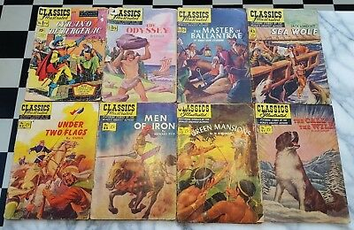 Vintage Comics Lot - Classics Illustrated 55-91 Various Titles 20 COMICS TOTAL