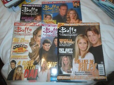 5 Titan Buffy the Vampire Slayer magazines: # 14, 20, 21, 22, 23, & free gifts