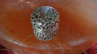 Vintage Sterling Silver Thimble Holder Mint Cond.