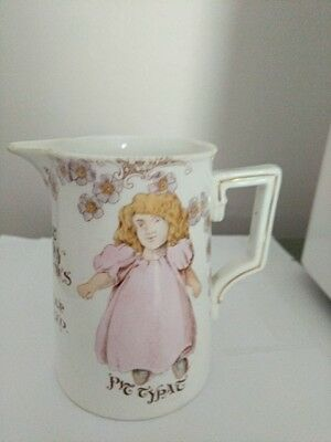 Antique child's milk pitcher  Foley China Made in England  4""