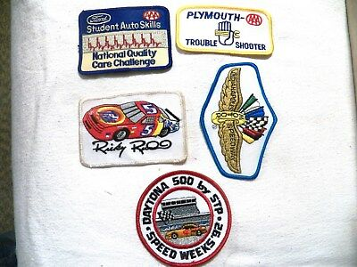 Assorted Automible and Automobile Racing Patches.