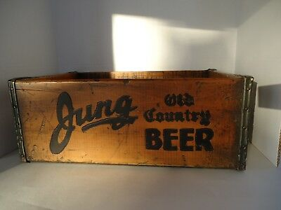 Rare Antique Vintage Jung Beer Brewery Wood Crate Brewing Co Old Country