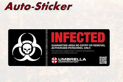 Infected Umbrella Corporation Bunte Sticker Aufkleber Digital JDM Style Tuning