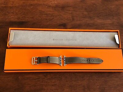 Hermes Apple Watch Band 38mm Etoupe Calf Leather Hermès