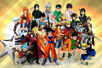 ANIME CHARACTERS FANTASY CANVAS PRINT FRAMED or UNFRAMED