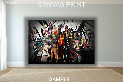 Anime All Naruto Characters FANTASY CANVAS PRINT FRAMED or UNFRAMED