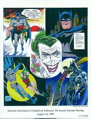 Limited numbered print of Batman by Moldoff, Sprang, Anderson, Adams & Robinson