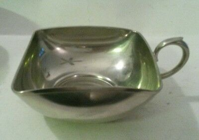 Royal Holland Pewter Bowl KMD Daalderop Square Bowl Mug with Handle Vintage