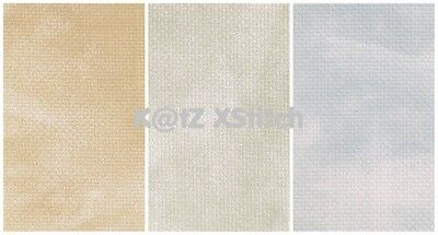 DMC 14 COUNT MARBLE AIDA CROSS STITCH FABRIC, Various Colours / Various Sizes*