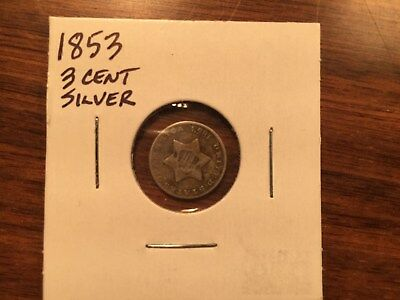 1853 Three (3) Cent Silver Trime