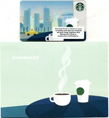 Starbucks  Skyline  2013 Corporate Card & Holder -Not In Stores