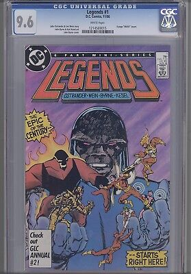 Legends #1 CGC 9.6 1986 DC Comic Suicid Squad and Harley Quinn 1214569015