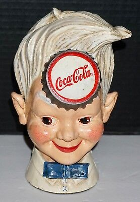 NIB 1999 Limited Coca Cola Sprite Boy Cast Iron Bank Hand Painted 4051 of 15,000