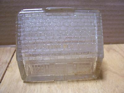 "Vintage Pittsburgh Paints ""Smooth as Glass"" Glass Advertising Coin Bank"