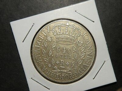 Fantasy Coin 1821 Brazil Portugal 8 Reales 640 Collectible Colonial Vintage Lot