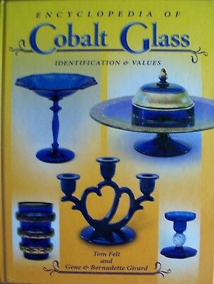ANTIQUE COBALT BLUE GLASS PRICE GUIDE BOOK bowls candlesticks pitcher cake stand