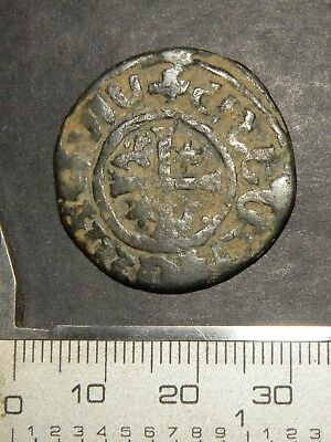 Large Crusader Cross Templar Coin Billon 1100-1300 Europe Medieval Antique Lot +