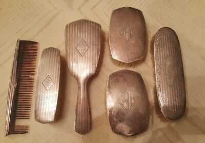 Antique Alvin Sterling Silver .925 Brush And Comb Grooming Set! Early 1900's
