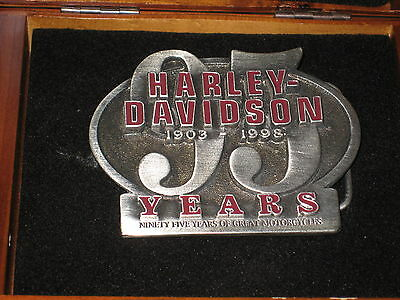 Harley Davidson MINT 95th Anniversary Limited Edition Belt Buckle #3954 of 6100