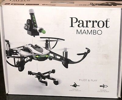 Parrot Mambo Mini Drone with Cannon and Grabber