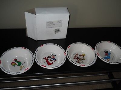 Complete Set 1995  Kellogg's Cereal Bowls New In Original Box