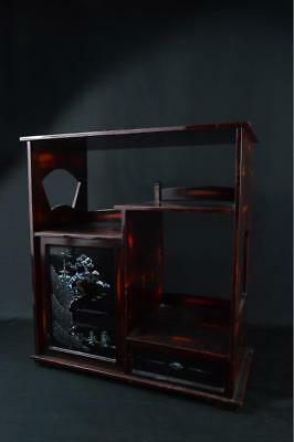 K1733: Japanese XF Wooden Lacquer ware Drawer CHEST OF DRAWERS/Cheffonier