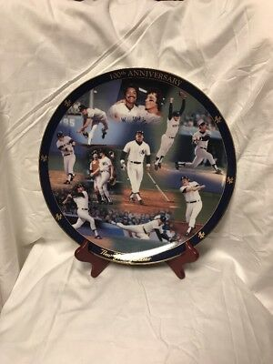 the Danbury Mint New York Yankees 100th anniversary collector's plate 1971-1980