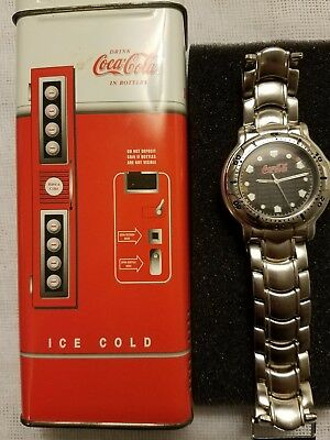 Vintage Coca Cola Watch With Metal Vending Machine Case Made By Fossil