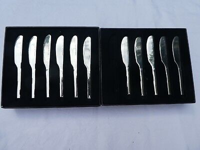 Stainless Steel Pate Knives - S & P (Salt and Pepper)