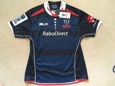 BRAND NEW MELBOURNE REBELS SUPER RUGBY JERSEY ADULT XL by BLK