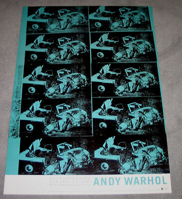 Original Ausstellungsplakat Andy warhol Nationalgalerie Berlin 2001 desaster