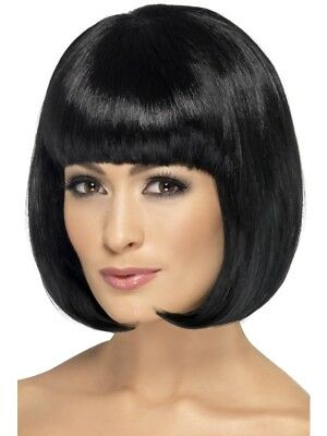 SALE! Adult Sexy Partyrama Black Bob Wig Ladies Fancy Dress Costume Accessory