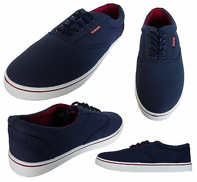 b9502e5b36b9 Mens Firetrap Lace Up Canvas Pumps Trainers Casual Sports Shoes Plimsolls  New