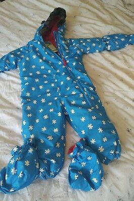 Muddy puddles brand new childs snow suit 18 - 24 months 1-2 boys or girls blue