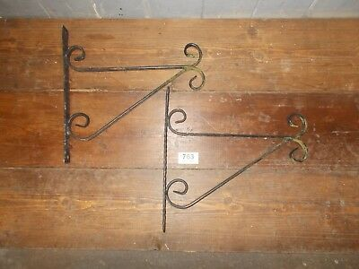 Hand Forged Wrought Iron Hanging Brackets 763