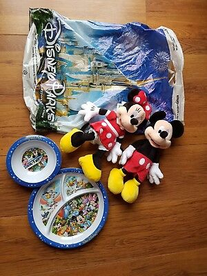 miky mouse and kids plates