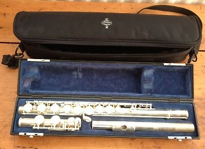 Buffet Crampon 6000 Series 2 Silver Pleated Flute & Hard Case & Soft Carry Case