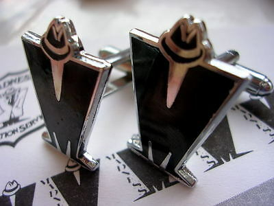 Madness - Pair Of Black Enamel 'm' Logo Cufflinks - Suggs Ska Stiff Two 2 Tone