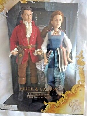 Disney Store Belle and Gaston Doll Set - Beauty and the Beast - New And Sealed