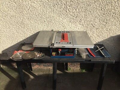 "Clarke CTS10D Wood Table Saw 10"" 254mm 1500W, 230V With Both Side Extensions"