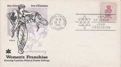 Canada #470 5¢ Votes For Women On Cole Cachet First Day Cover