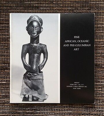 RARE 1977 Sotheby's Auction Catalog: Fine African, Oceanic and Pre-Columbian Art