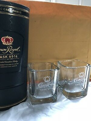 Rare Crown Royal Cask 16 Square Glass