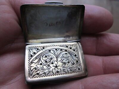1840  Ornate  STERLING - VINAIGRETTE w/ Ornate Interior Grill by FRANCIS CLARK