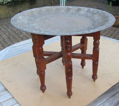 Brass top yurt table Genuine vintage Moroccan made in Fez