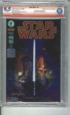 Star Wars #1 Prelude to Rebellion VSP CBCS 8.5 signed by Ken Kelly - Verified